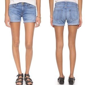 Frame Denim Le CutOff Rolled Cuff Shorts